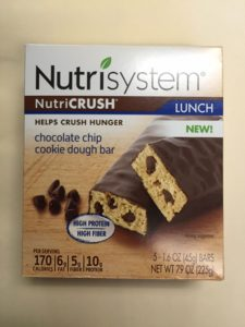 Label released by FDA with Nutrisystem cookie-dough related recall.
