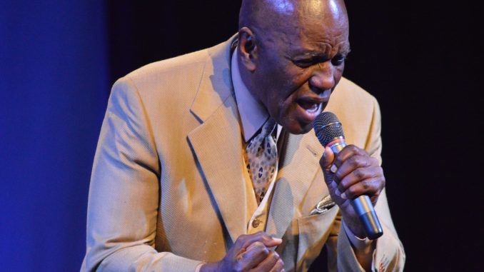 Poet at a previous Share The Dream Talent Show. Source: J. Jeffers.