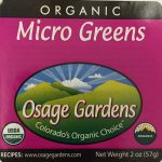 Osage Gardens Inc. of New Castle, Colorado, has recalled Osage Gardens Organic 2 oz Micro Greens. Source: Label released via fda.gov.