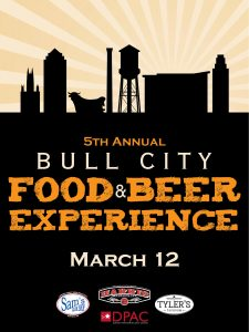 Bull City Food & Beer Experience is March 12, 2017, in Durham NC.