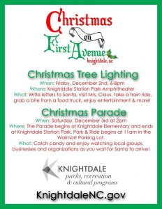Knightdale Holiday events 2016. Source: Megan Thornton, KnightdaleNC.gov.