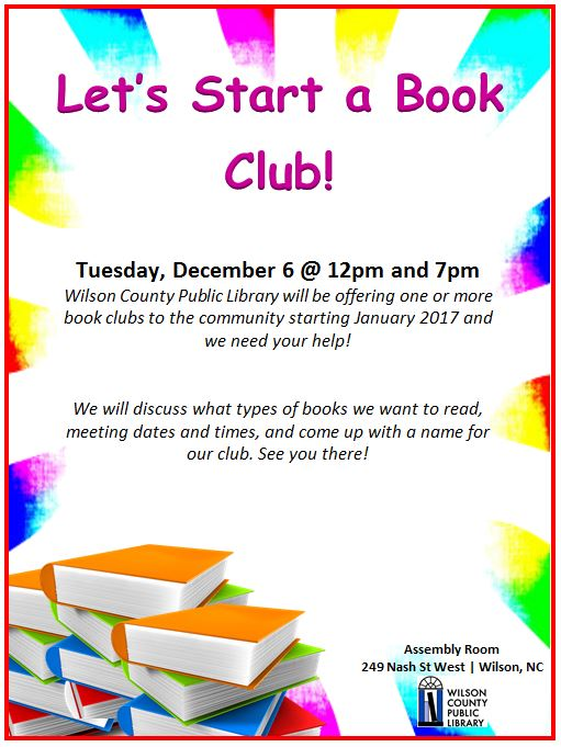 Book Club planning meeting. Source: Wilson County Public Library.