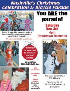 Children's Parade is in downtown Nashville NC on December 3, 21016.