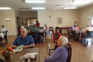 Residents gathered for the giving day December 3, 2016.