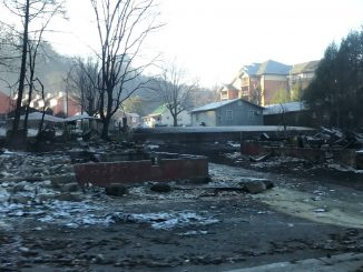 Destruction from Gatlinburg,Tennessee wildfires. Source: AmeriCorps NCCC.
