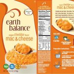 One of the Earth Balance Vegan Cheddar Mac & Cheese labels released with the recall notice. Source: PRNewsFoto/Boulder Brands, Inc., Boulder, Colorado.