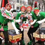 Elves at the Cherry Creek North Winter Fest 2015, Denver CO.