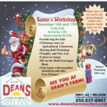 Deans Farm Market holiday happenings in Wilson NC.