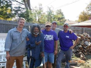 Volunteers with Purple Heart Homes Front Range Chapter with Vietnam Veteran Arthur Mayfield. Photo: PHH.