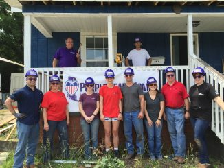 Purple Heart Homes volunteers completely renovate home for Iraq Veteran Lauren Hogan in Bessemer City, NC. Photo: PHH.