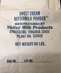 Buttermilk bag image released with recall.