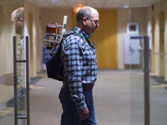 New Technology Could Help Track Firefighters for Safety Electromagnetic forceTracking firefighters in the fieldTracking firefighter safety New technology developed at NASA's Jet Propulsion Laboratory can locate firefighters wearing a backpack-sized device. Engineers are working to shrink the device to fit in a pocket. Image Credit: Paul Wedig/DHS-Science and Technology Directorate. Source: Andrew Good, Jet Propulsion Laboratory, NASA.