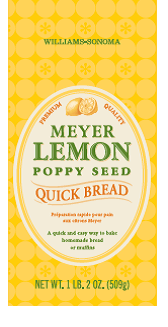 Lemon poppy seed quick bread mix label released with recall. Source: US FDA.