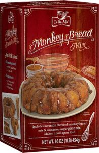 A monkey bread label released with the recall by the US FDA.