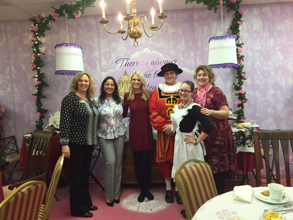 Lady Claire and assistants with Oak Park Tea Room owner Miss Lou and Tea sommelier Brittany. Photo: Kay Whatley.
