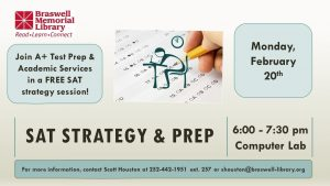 SAT Strategy and Prep session scheduled at Braswell Memorial Library. Source: Scott Houston