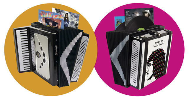 """""""Squeeze Box"""" LP Product Shot. Source: Legacy Recordings."""