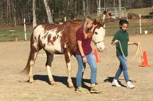East Wake Academy students practice taking the lead. Photo: Kay Whatley