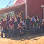 East Wake Academy students taking a break at Kindred Spirits Farm, Zebulon NC. Photo: Kay Whatley