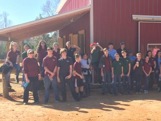 East Wake Academy students taking a break at Kindred Spirits Farm, Zebulon NC. Photo: Kay Whatley