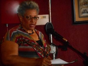 Jackie Dove-Miller at FCAC open mic, February 25, 2017. Source: Donna Campbell Smith, FCAC.