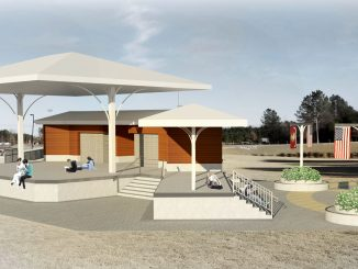 Renderings of the proposed stage and memorial plaza. Source: Jonas Silver, PIO, Town of Knightdale NC.