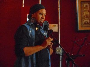 Linda Wade at FCAC open mic, February 25, 2017. Source: Donna Campbell Smith, FCAC.