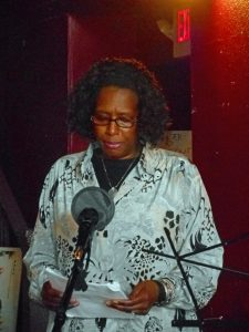 Theodocia Snelling at FCAC open mic, February 25, 2017. Source: Donna Campbell Smith, FCAC.