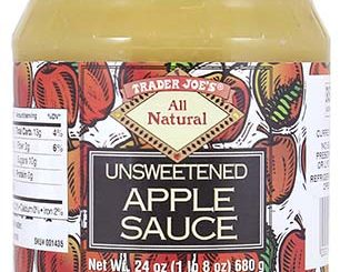 One of the apple sauce labels released with the Manzana Products Co. / US FDA recall notice.