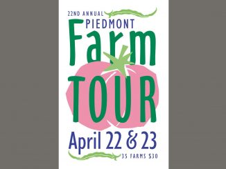 Piedmont Farm Tour 2017 logo. Source: Carolina Farm Stewardship Association, Pittsboro NC.