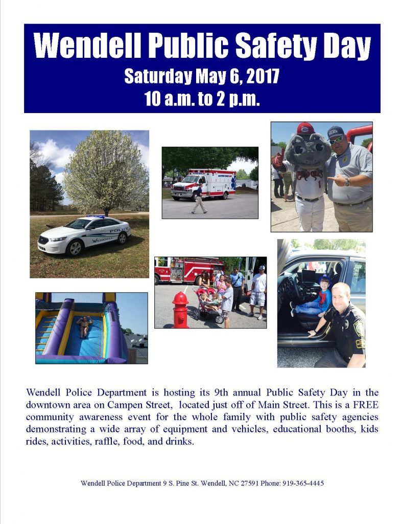 Wendell 2017 Public Safety Day. Source: Sherry Scoggins, Town of Wendell NC.