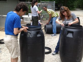 Rain Barrel workshop photo 2016. Source: We Plant It Forward.