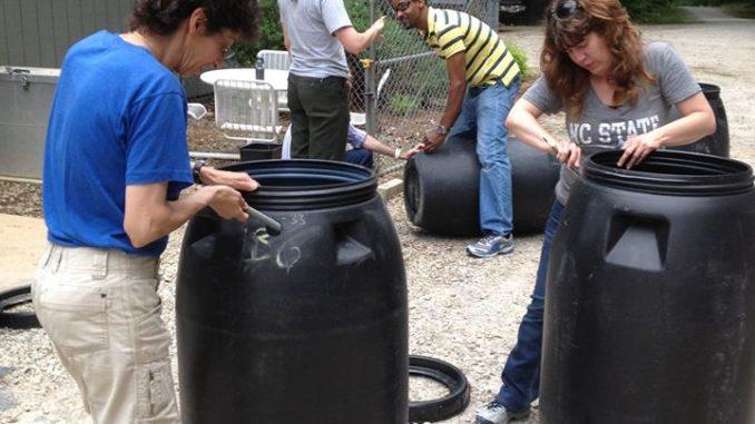 Rain Barrel workshop photo 2016. Source: We Plant It Forward.