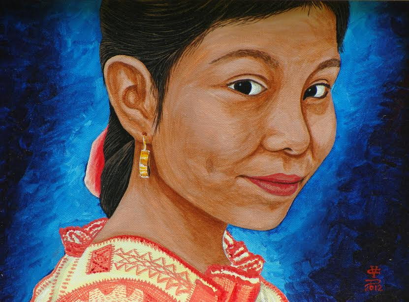 La Niña de Cheran Michoacan by Cornelio Campos. Source: Donna Campbell Smith, FCAC, Franklinton NC.