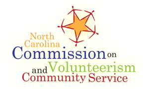 NC Commission on Volunteerism and Community Service logo.