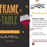 Frame to Table Event Poster. Source: Groundswell Pictures, Fayetteville NC.