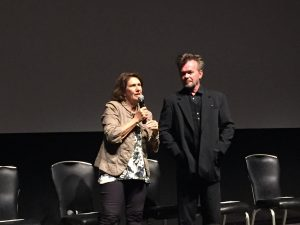 Farm Aid's Carolyn Mugar with John Mellencamp prior to the film screening May 18, 2017 at the Griffith Film Theatre. Photo: Kay Whatley.