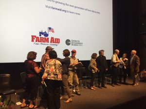 Panel dispersal after Q&A at screening May 18, 2017. Source: Kay Whatley.