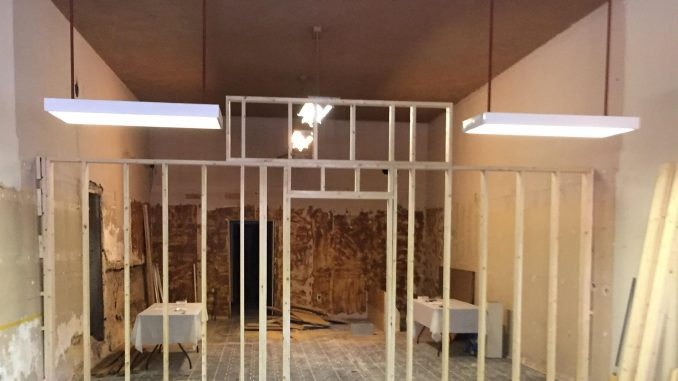 Louisburg NC gallery in-process. Source: Donna Campbell Smith, Franklin County Arts Council.