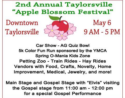 2017 Taylorsville Apple Blossom Festival Flyer.
