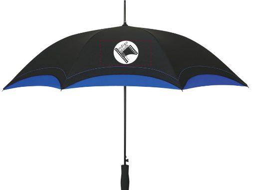 Indigo Moon Film Festival logo umbrella sales will help to raise funds for the new Infamous Umbrella Scholarship.