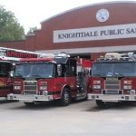Fire trucks at Knightdale Station. Source: Jonas Silver, Town of Knightdale NC.