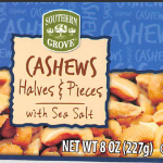Cashew label released with Recall. Source: US FDA.