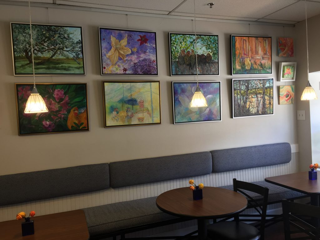 Seating at Blue Collie Coffee, Louisburg NC. Photo: Kay Whatley.