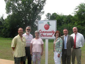 Rocky Mount NC Community Orchard Dedication 2012. Source: City of Rocky Mount.