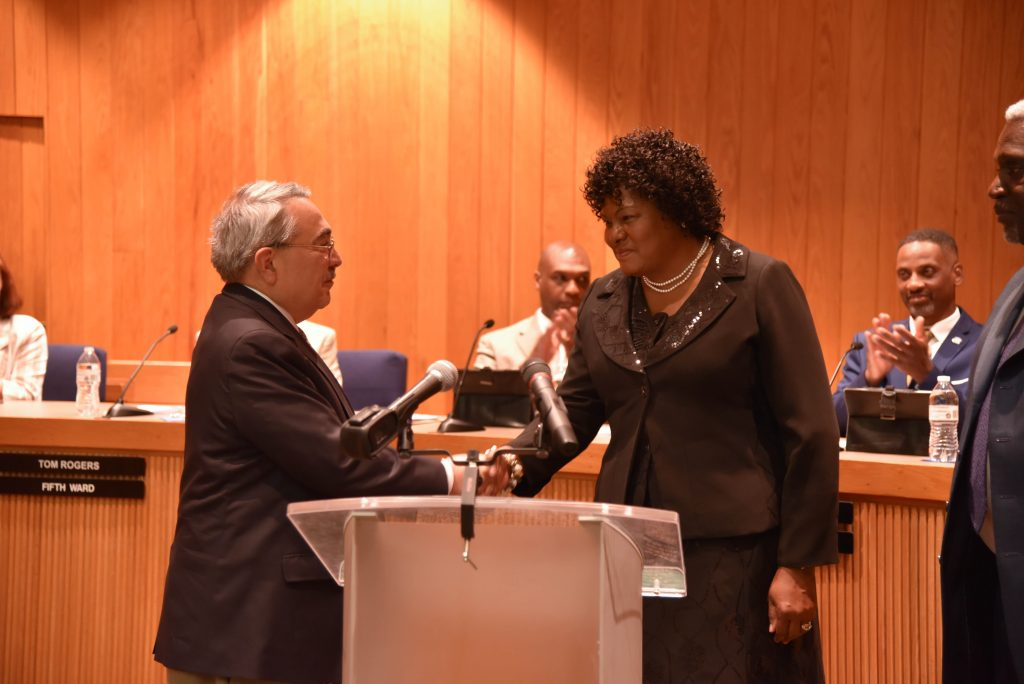 Congressman Butterfield with Small-Toney. Source: City of Rocky Mount NC.
