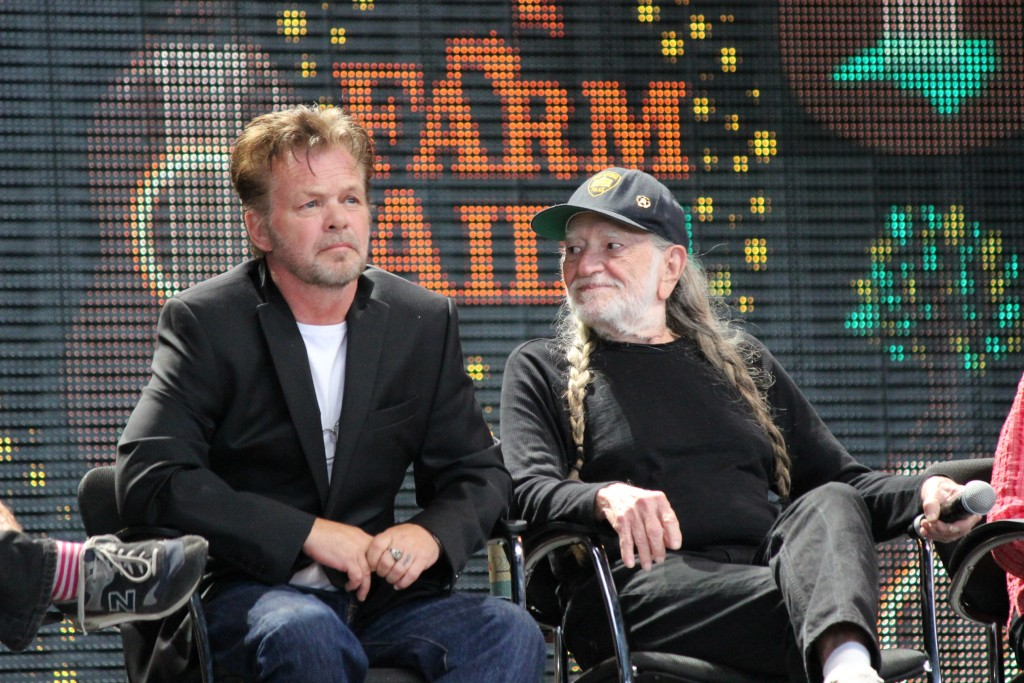 Willie Nelson and John Mellencamp at Farm Aid 2014 press event in Raleigh, NC. Photo by Frank Whatley, The Grey Area (newspaper)