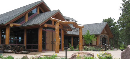 The front entrance of the Lookout Mountain Nature Center atop Lookout Mountain in Golden. Photo Source Jeffco.us.