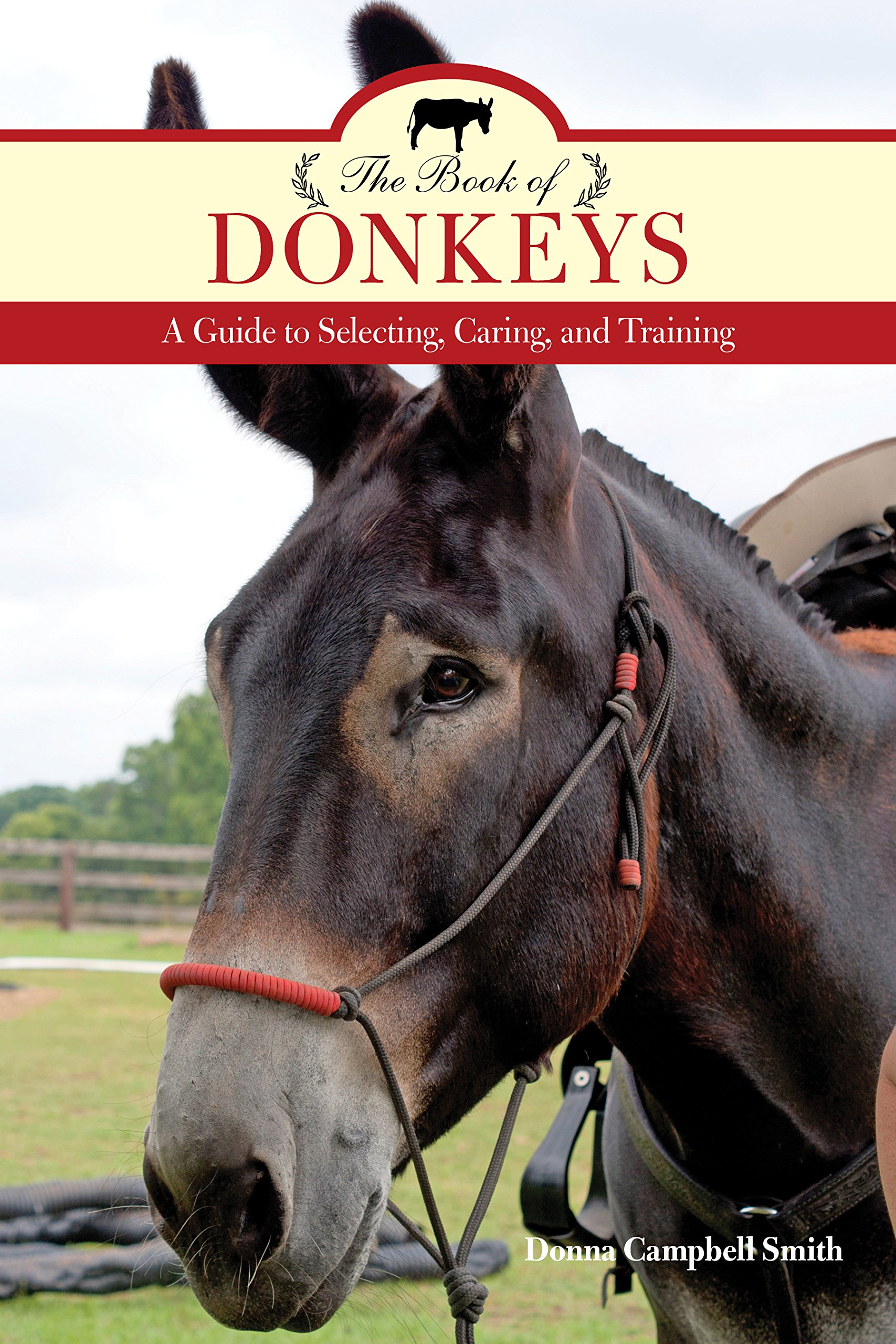 Book cover for The Book of Donkeys, published 2016. Source: Donna Campbell Smith, NC.