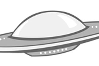 The Grey Area news UFO logo